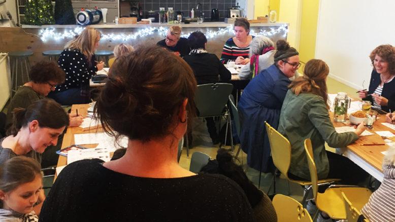 workshop handletteren buurthuis de kolk