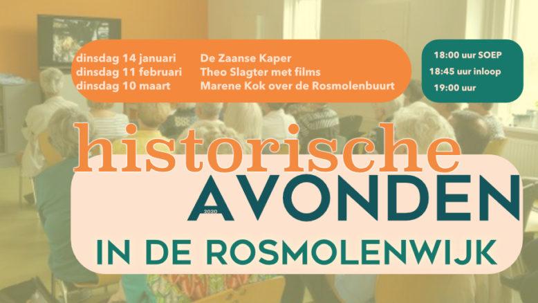 historische avond Buurthuis de Kolk Zaandam - kostuumgroep De Zaanse Kaper, filmmaker Theo Slagter, Gids aan de Zaan Marene Kok, 2020